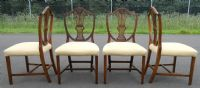 Set of Four Mahogany Shield Back Dining Chairs